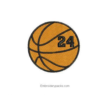 Basketball Ball Embroidered Design