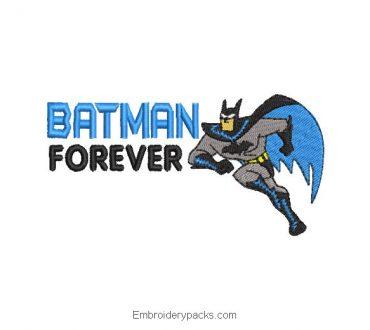 Batman forever embroidery design