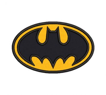 Batman logo embroidered design with Application