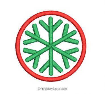 Christmas wreath design with star