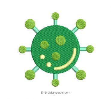 Coronavirus Embroidered Design