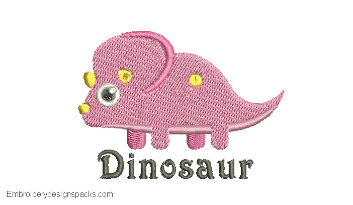 Cute design Dinosaur with Name