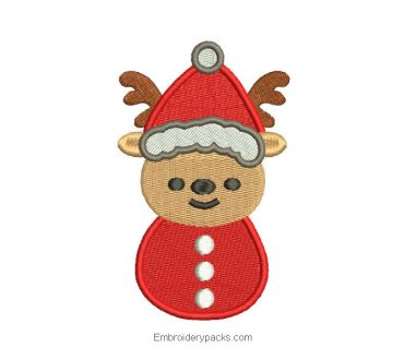 Download Christmas Reindeer Embroidered Design