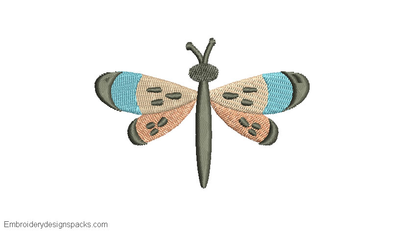 Free Dragonfly Embroidery Design
