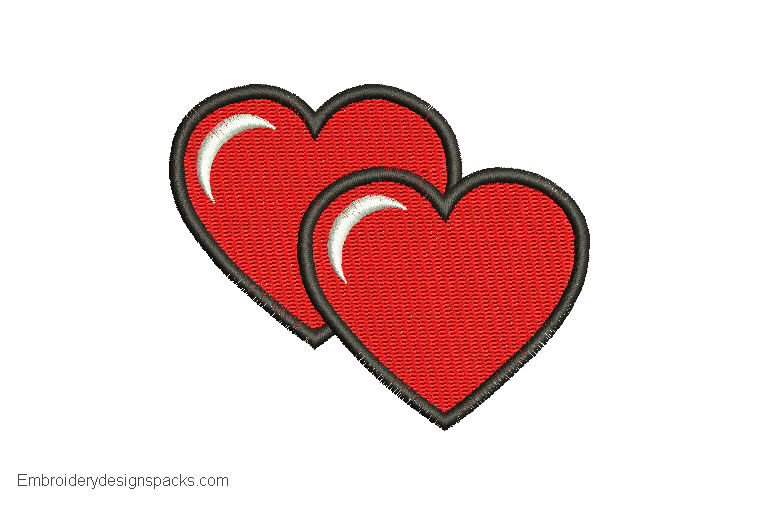 Embroidered Heart Design