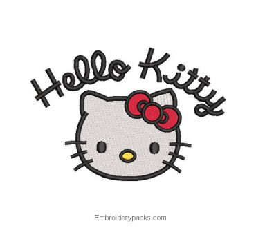 Hello Kitty Embroidered Design with Letter