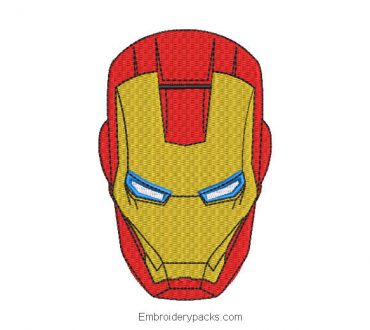 Iron Man Face Embroidery