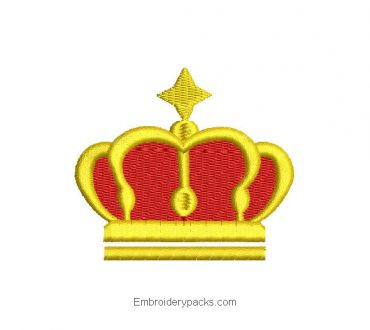 King Crown Embroidered Design