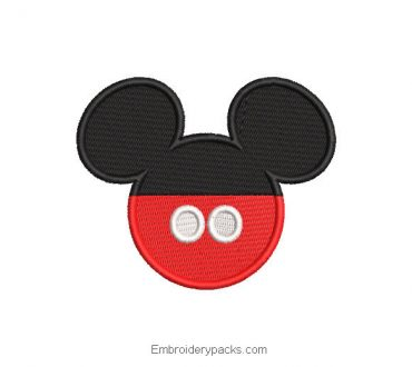 Mickey mouse face design red and black