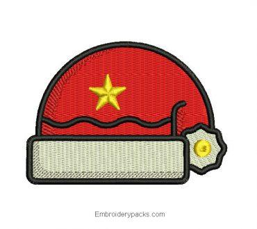 Santa Claus Cap Embroidered Design