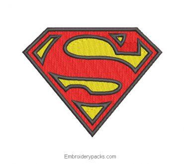 Superman Logo Embroidered Design