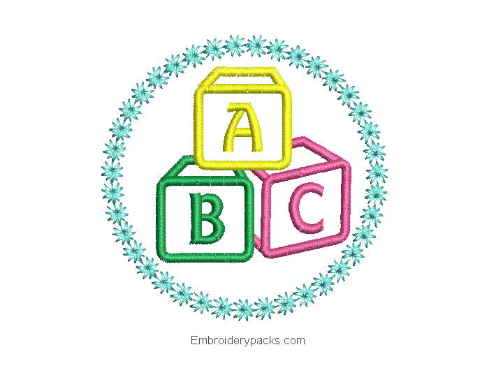 ABC Letter Embroidery Design