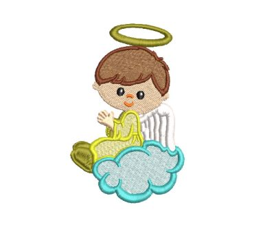 Angel Child Praying Embroidery Designs