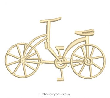Antique Bicycle Machine Embroidery Design