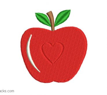 Download apple embroidery design