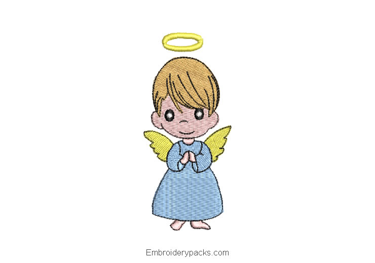 Baby Angel Machine Embroidery Design