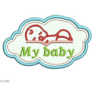 Baby Embroidery with Application