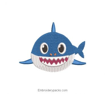 Baby shark baby shark embroidery design