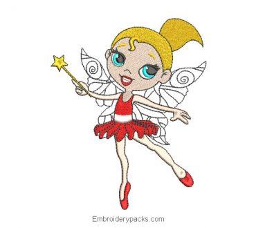 Ballet Dancer Princess Embroidered Design
