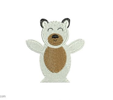 Bear Embroidery Design 1