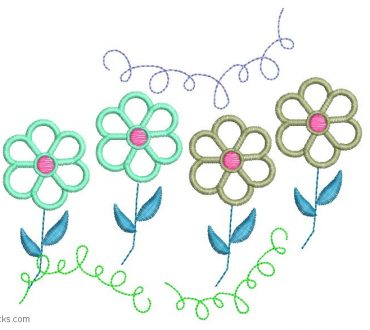Beautiful Design Embroidery of flowers