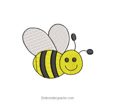Bee Machine Embroidered Design
