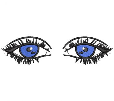 Blue Eyes Embroidery Designs