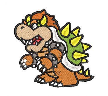Bowser Super Mario Bros Embroidery Design