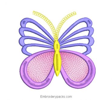 Butterfly design for embroidery machine