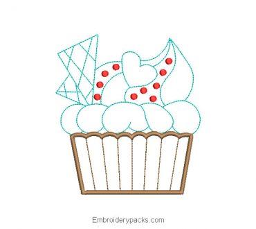 Cake Pop Embroidered Design