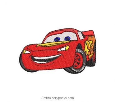 Cars Cars Embroidered Designs Lightning McQueen