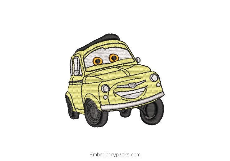 Cars Cars Luigi Embroidered Designs