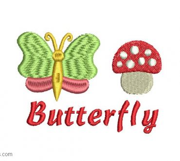 Child Butterfly Embroidery 1