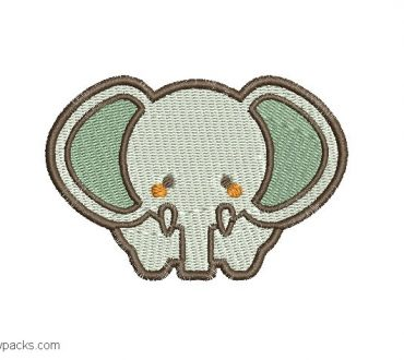 Child Elephant Embroidery