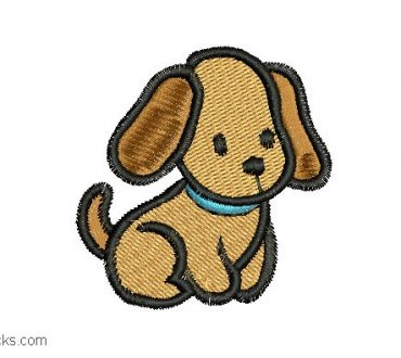 Child Puppy Embroidery 1
