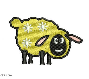 Child Sheep Embroidery Design