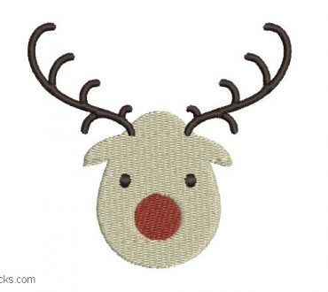 Christmas Reindeer Embroidery for Embroidery