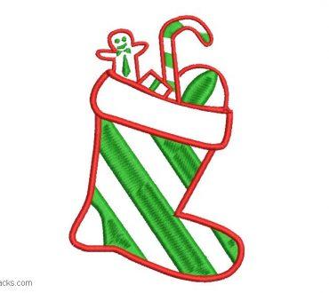 Christmas Sock Embroidery