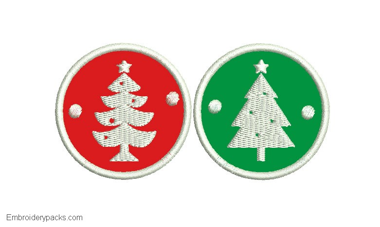 Christmas Sticker Embroidery