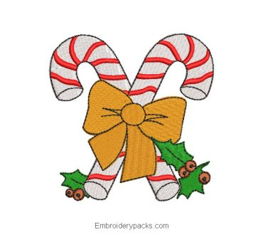 Christmas candy machine embroidery design
