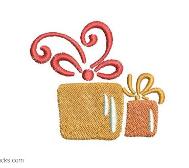 Christmas gift embroidery
