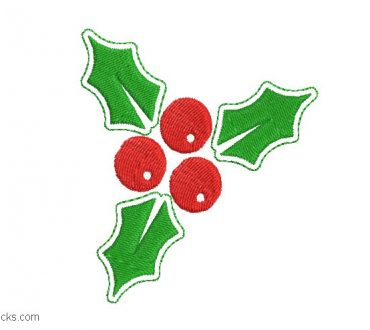 Christmas holly embroidery to embroider