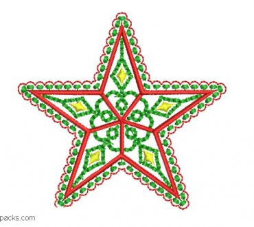 Christmas star to embroider