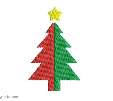 Christmas tree design to embroider