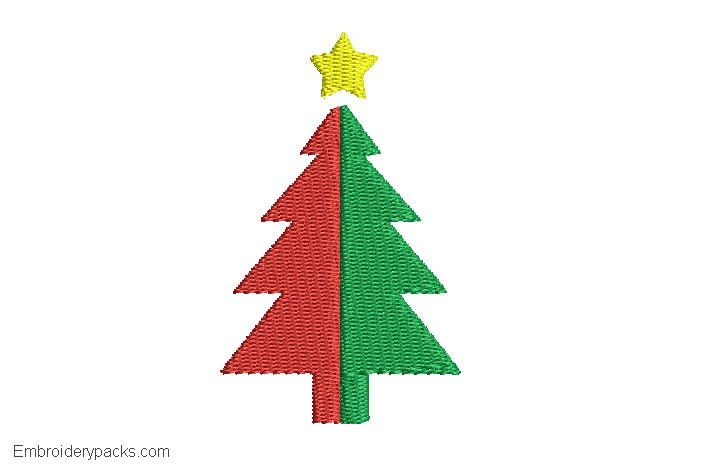 Christmas tree design to embroider