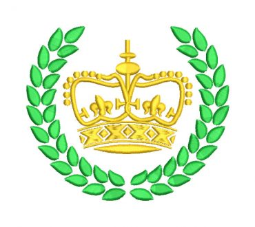Crown with Shield Embroidery Designs