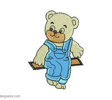 Cute bear embroidery