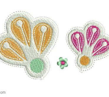 Decorated Flower Embroidery Design