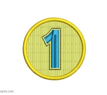 Design Embroidery of Medal Number 1