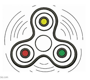 Design Embroidery of Spinner to Embroider